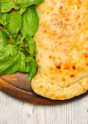 Calzone with meat - photo
