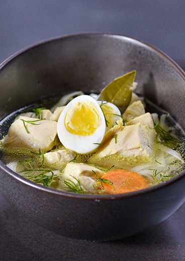 Chicken soup with noodles - photo