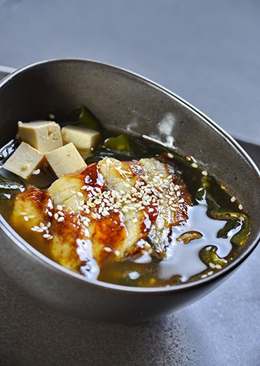 Miso with eel - photo