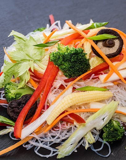 Сlear noodles with vegetables - photo
