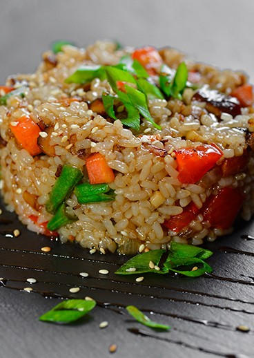 Fried rice with vegetables - photo