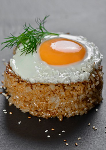Fried rice with egg - photo
