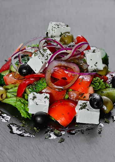 Greek salad in Kharkov  - photo