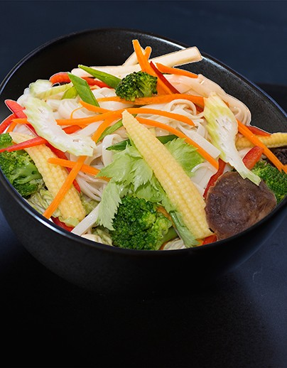 Udon with vegetables - photo