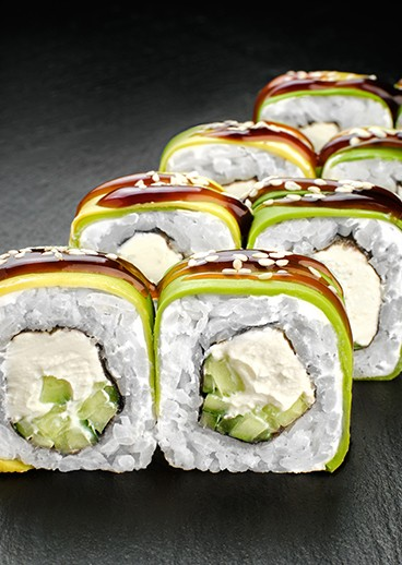 Roll Philadelphia with avocado - big photo