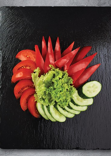 Sliced vegetables - big photo