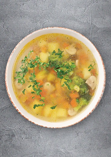 Soup with vegetables - big photo