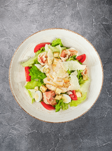 Caesar salad with chicken - big photo