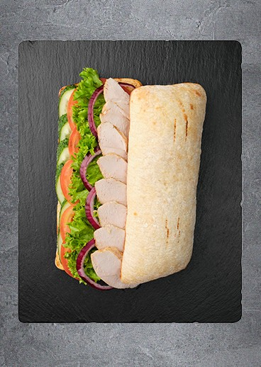 Sandwich with chicken - big photo