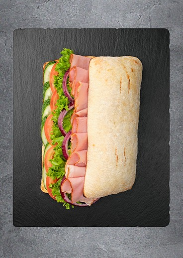 Sandwich with ham - big photo