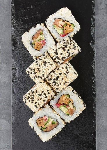 Roll Bonito with salmon - photo