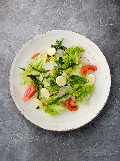 Fresh salad with radish - photo