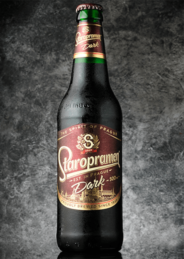 Beer Staropramen dark - photo