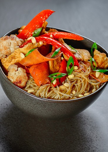 Crystal noodles with chicken - photo