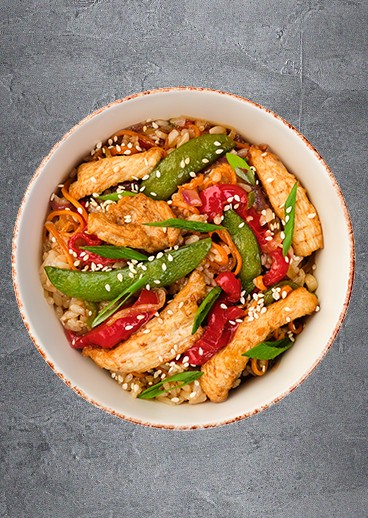 Rice with chicken - photo