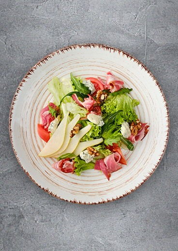 Salad with pear and Prosciutto - photo