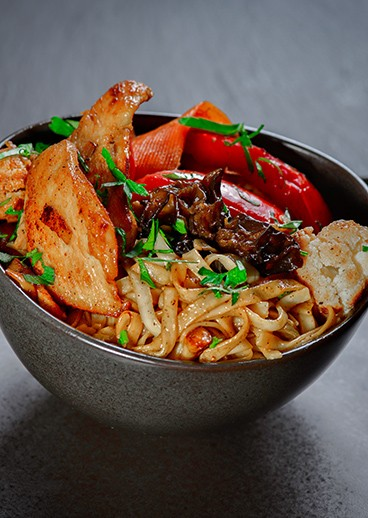 Udon with chicken - photo